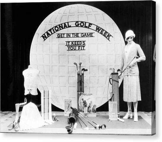 Dummies Canvas Print - National Golf Week Display by Underwood Archives