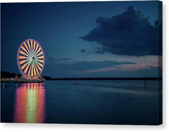 National Harbor Ferris Wheel Canvas Print