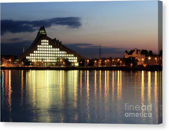 National Library Of Latvia Canvas Print