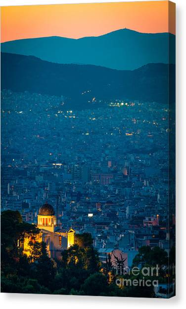 Greece Canvas Print - National Observatory Of Athens by Inge Johnsson