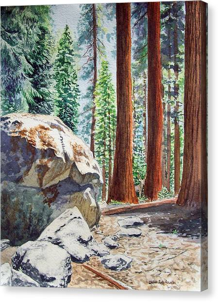 Irina Canvas Print - National Park Sequoia by Irina Sztukowski