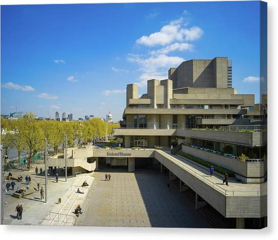 Canvas Print featuring the photograph National Theatre by Stewart Marsden