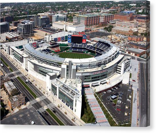 Aerial View Canvas Print - Nationals Park by Carol Highsmith