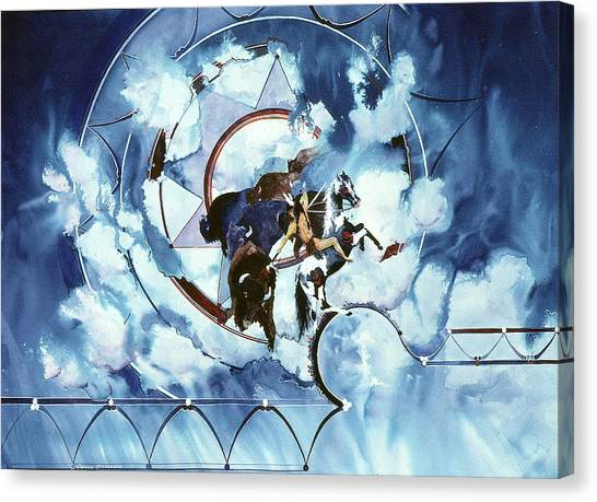Native American Blue Spirit Canvas Print