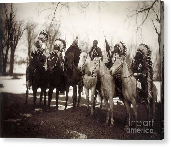 Canvas Print - Native American Chiefs by Granger