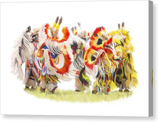 Native Color In Motion Canvas Print