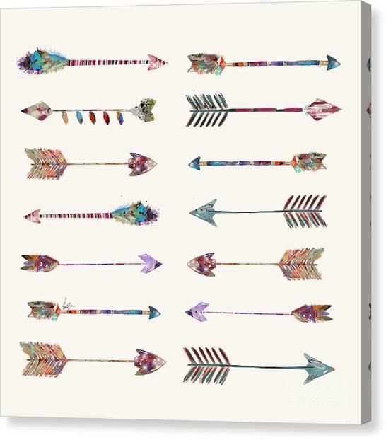 Native Canvas Print - Native Arrows by Bri Buckley