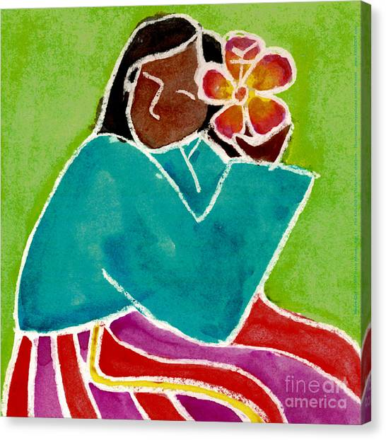 Native Girl Canvas Print