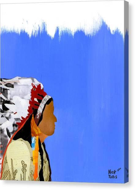 Native Canvas Print by Nicholas Tullis