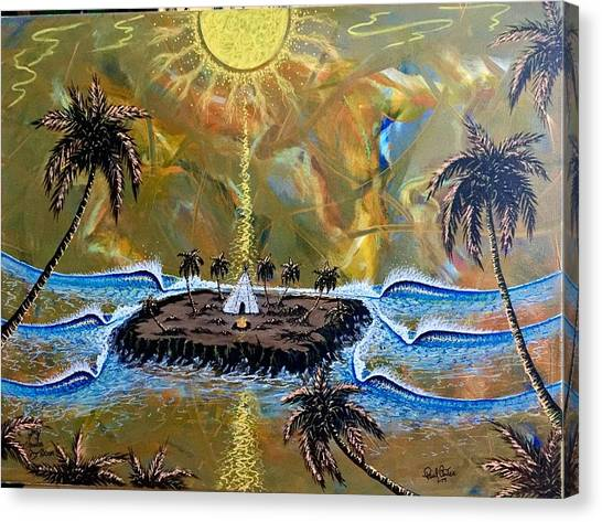 Native Sunset Dream Canvas Print