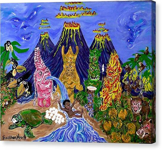 Nativi-tiki Canvas Print