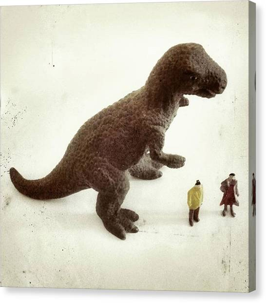 Tyrannosaurus Canvas Print - #natura #jurassic #tinyworld #tiny by Michele Stuppiello
