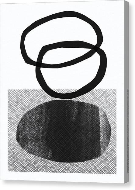 Yoga Canvas Print - Natural Balance- Abstract Art by Linda Woods