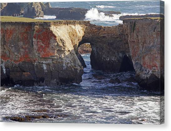 Natural Bridge At Point Arena Canvas Print