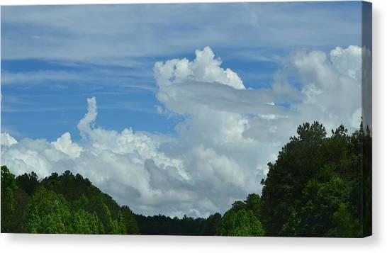 Natural Clouds Canvas Print