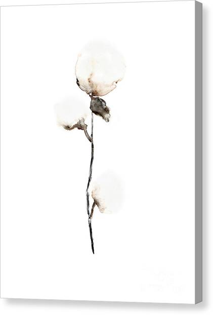 Flower Canvas Print - Natural Cotton Fine Art Print by Joanna Szmerdt