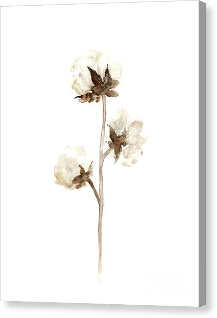 Floral Canvas Print - Natural Cotton Wall Hanging by Joanna Szmerdt