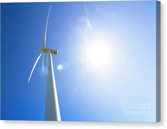 Wind Farms Canvas Print - Natural Electricity by Jorgo Photography - Wall Art Gallery