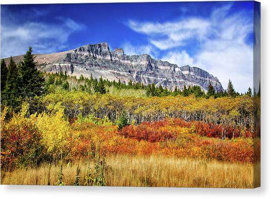 Natural Layers In Glacier National Park Canvas Print