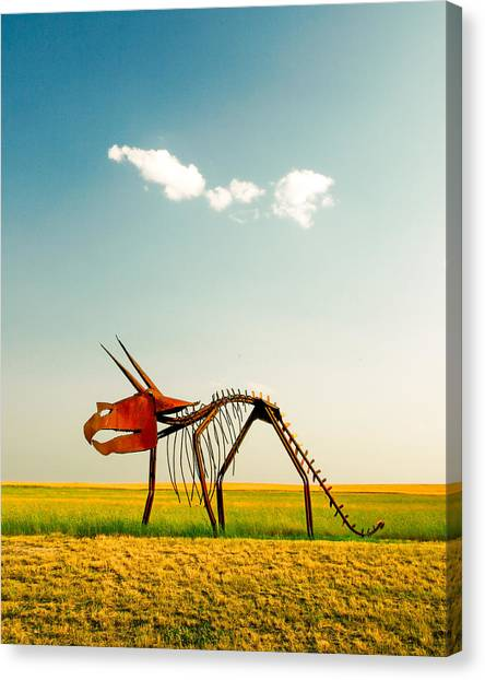 Dinosaurs Canvas Print - Natural Selection by Todd Klassy