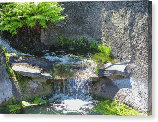 Canvas Print featuring the photograph Natural Spa Zone by Raphael Lopez