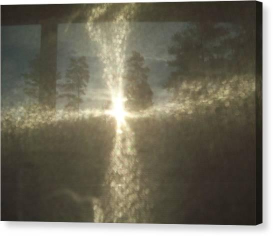 Natural Sun Cross Canvas Print