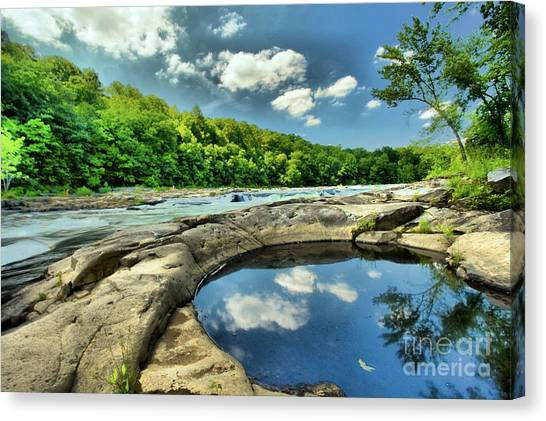 Natural Swimming Pool Canvas Print
