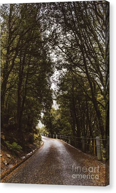 Canvas Print featuring the photograph Nature Landscape Photo Of A Scenic Mountain Road by Jorgo Photography - Wall Art Gallery