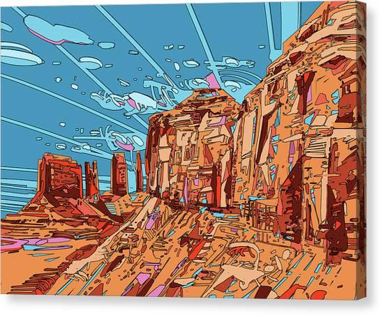 Southwest Canvas Print - Nature Monument 3 by Bekim M