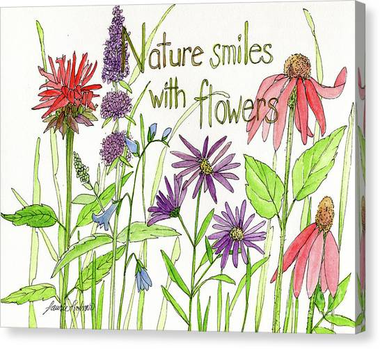 Nature Smile With Flowers Canvas Print