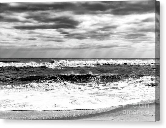 Nature's Force On Long Beach Island Canvas Print by John Rizzuto