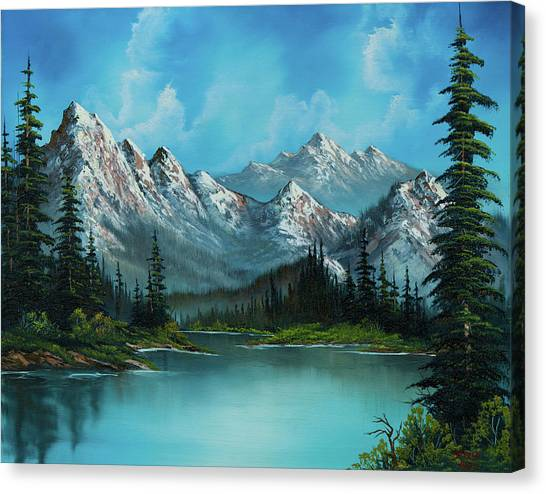 Pine Trees Canvas Print - Nature's Grandeur by Chris Steele