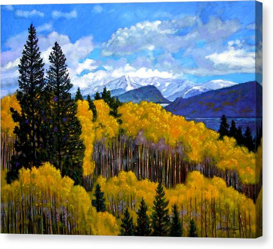 Rocky Mountain Canvas Print - Natures Patterns - Rocky Mountains by John Lautermilch