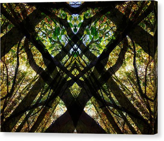 Natures Stain Glass Canvas Print