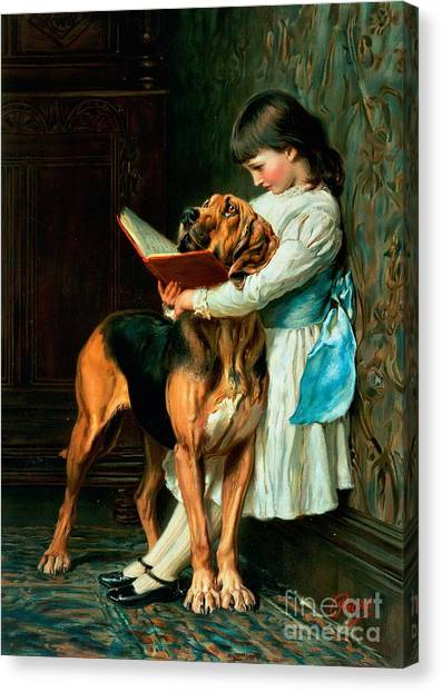 Girl Canvas Print - Naughty Boy Or Compulsory Education by Briton Riviere