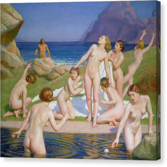 Paddle Canvas Print - Nausicaa by William McGregor Paxton