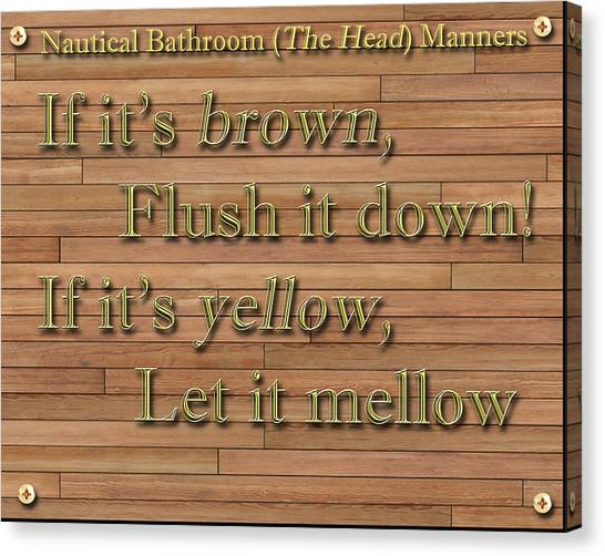 Canvas Print - Nautical Bathroom Humor by Jack Pumphrey