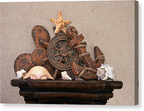 Starfish Canvas Print - Nautical Still Life Iv by Tom Mc Nemar