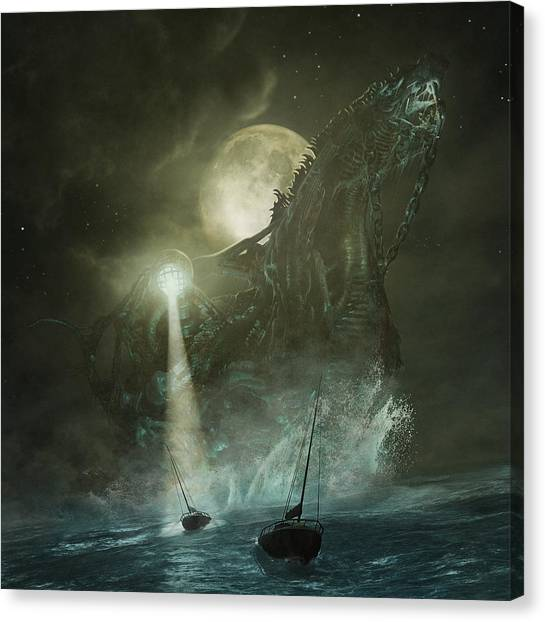 Canvas Print featuring the digital art Nautilus by Uwe Jarling