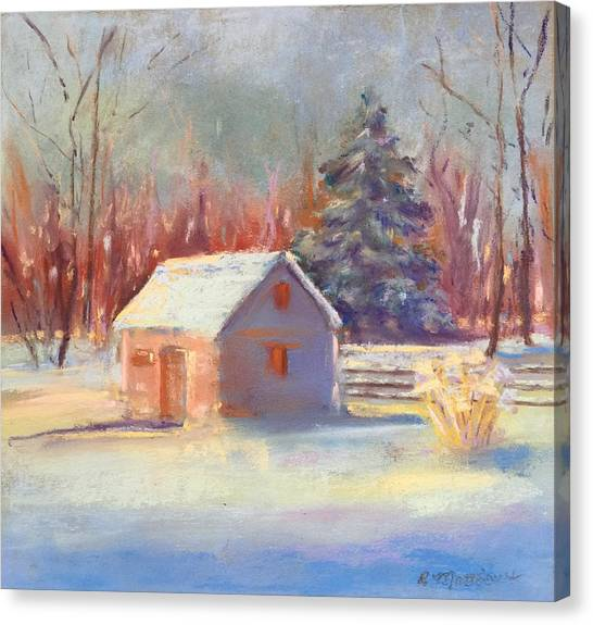 Nauvoo Winter Scene Canvas Print