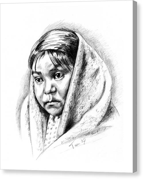 Navajo Child Canvas Print