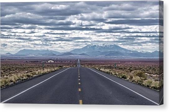 Navajo Route 15 Canvas Print
