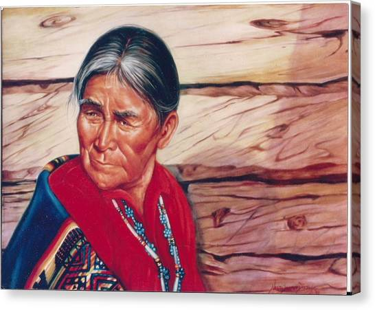 Navajo Woman Canvas Print
