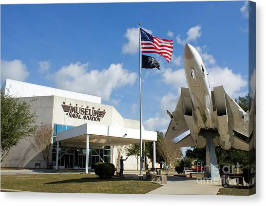 Canvas Print featuring the photograph Naval Aviation Museum by Steven Frame