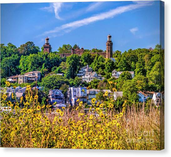 Navesink Light On The Hill Canvas Print