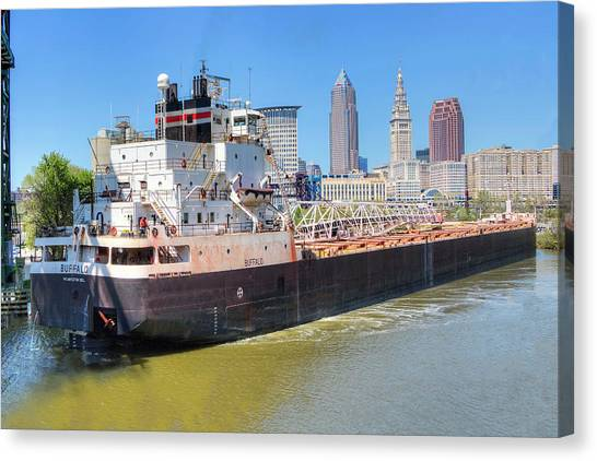 Navigating The Cuyahoga Canvas Print