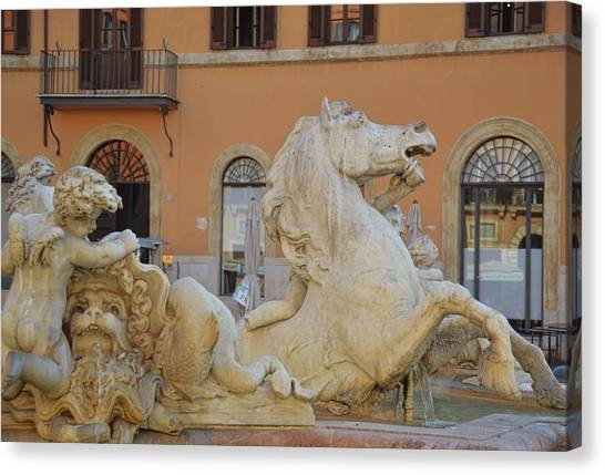 Navona Fountain Canvas Print by JAMART Photography
