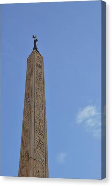 Navona Dove Obelisk Canvas Print by JAMART Photography
