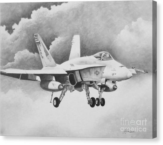 Navy Hornet Canvas Print