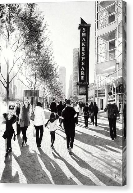 Ballpoint Pens Canvas Print - Navy Pier by Andrey Poletaev